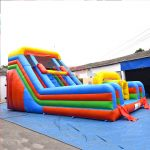 2 Lane Inflatable Slide Obstacle Combo #PLS-041 10x5x5.5m or 12x6x6